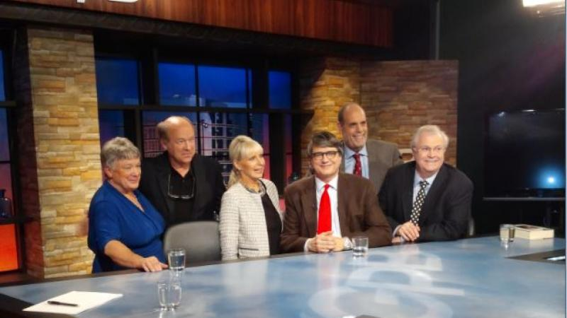 (Left to Right) Peggy Rusk Smith, Rich Rusk, Bobbie Battista, Don Johnson, Bill Nigut, and Tom Johnson