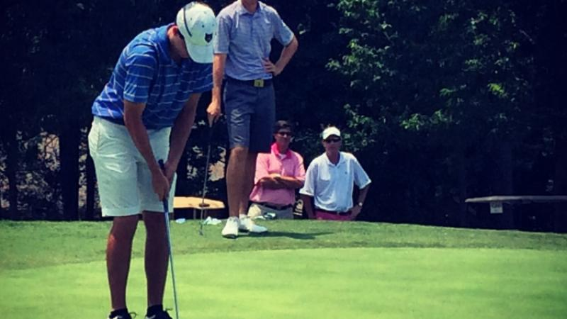 Robert Mize plays his way to champion status at the GSGA Amateur Championship at the Idle Hour Club in Macon, Georgia.