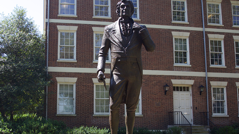 Photo of a stature at the University of Georgia
