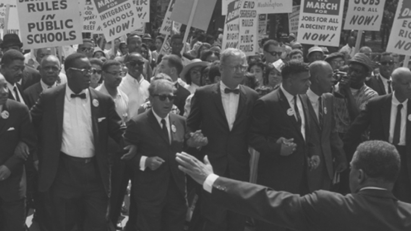 Image of Civil Rights activists marching in the 1960s.